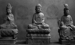 Bộ tượng Di Đà Tam Tôn chùa Thày (góc nhìn mới)